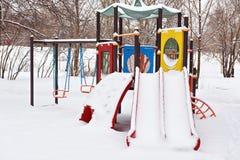 Winter playground Royalty Free Stock Photos