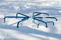 Winter Playground Swingset Equipment Royalty Free Stock Image