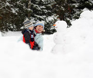 Winter playing Stock Image