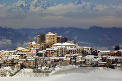 Winter in Piemont, Italy Royalty Free Stock Images