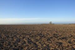 Winter plow soil Stock Photo