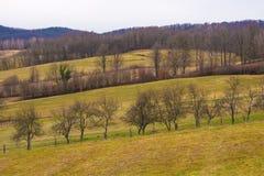 Winter Podgaric in Eastern Croatia. The winter landscape around Podgaric in Bjelovar-Bilogora County, central Croatia stock photography