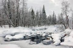 Free Winter Polar Landscape In The Sweden. Stock Photo - 111027480
