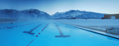 Winter in the pool. Stock Photo