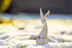 Winter Porcelain Rabbit Stock Photos