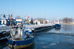 Winter port Stock Photography
