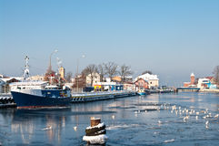 Winter port Stock Image