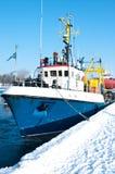 Winter port Stock Photos