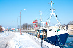 Winter port Royalty Free Stock Image