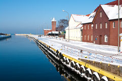 Winter port Royalty Free Stock Images