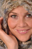 Winter portrait. Girl with winter hat and scarf Stock Photo