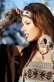 Winter portrait Stock Photos