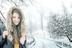 Winter portrait Stock Photo