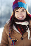 Winter portrait. Winter collection: winter portrait of beautiful young woman Stock Photo