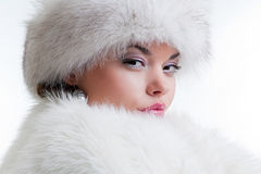 Winter portrait of attractive woman Royalty Free Stock Photo