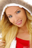 Winter portrait  beautiful blonde Stock Photos