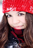 Winter portrait of beautiful girl Royalty Free Stock Image