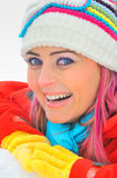 A winter portrait of a beautiful girl Stock Image