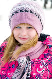 Winter portrait of the beautiful girl  Royalty Free Stock Images