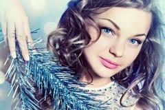 Winter portrait of beautiful girl. Royalty Free Stock Photos
