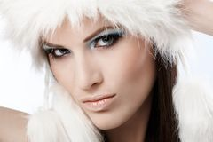 Winter portrait of beautiful woman Stock Photo