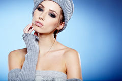 Winter  portrait of a beautiful women Royalty Free Stock Photo