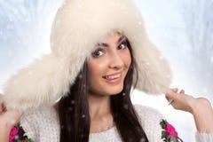 Winter portrait. Royalty Free Stock Photos