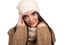 Winter portrait. Royalty Free Stock Image