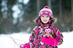 Winter portrait of beauty little girl  Stock Photography