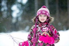 Winter portrait of beauty little girl  Stock Photography