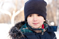 Winter portrait of a  boy Royalty Free Stock Photo