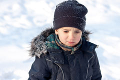 Winter portrait of  boy Royalty Free Stock Image