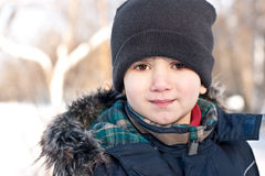 Winter portrait of a  boy Stock Photography