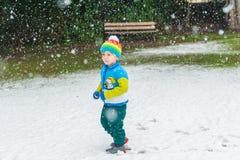 Winter portrait of a cute little boy Royalty Free Stock Photo