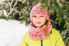 Outdoor portrait of adorable little girl Royalty Free Stock Images