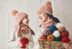 Winter portrait of family Royalty Free Stock Images