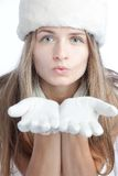 Winter portrait of the girl Royalty Free Stock Photography
