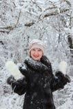 Winter portrait of a girl. Winter portrait of a smiling girl Stock Image