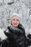 Winter portrait of a girl Royalty Free Stock Photo
