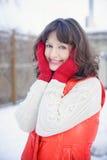Winter portrait of a girl. Winter portrait of a blue-eyed girl. winter Stock Images