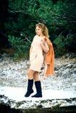 Winter portrait of the girl. Stock Image