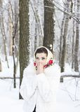 Winter portrait of a girl. C decoration Royalty Free Stock Photography