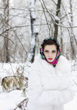 Winter portrait of a girl. C decoration Royalty Free Stock Image