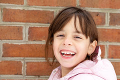 Winter Portrait of a Happy Little Girl Royalty Free Stock Photo