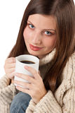 Winter portrait of happy woman Royalty Free Stock Images
