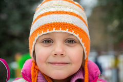 Winter portrait of a little girl.  Royalty Free Stock Photography