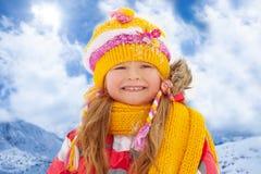 Winter portrait of little girl Stock Image