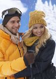 Winter portrait of loving couple Royalty Free Stock Photos