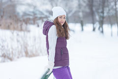 WInter portrait outdoor woman Stock Image