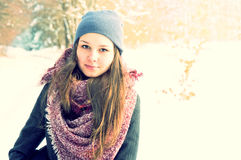 Winter portrait. Royalty Free Stock Photo